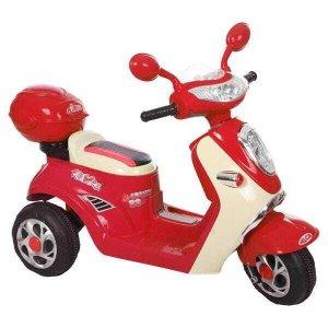 Moto Lambreta Elétrica Bel Brink 1 Lugar Infantil 6V Vermelha