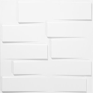 Kit Revestimento Placa 3D Modelo Alevante caixa 12 Unid - 3 M²