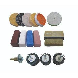 Kit para Polimento Motos Rodas Acrilico Plastico ,3 mini Kountour para Furadeira 15 pçs