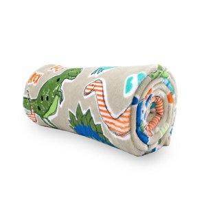 Manta Cobertor Solteiro Infantil Dinossauro 1,50 X 2,20 Soft Flannel Macio Menino