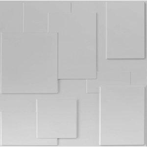 Kit Revestimento Placa 3D Modelo Cadre caixa 12 Unid - 3 M²