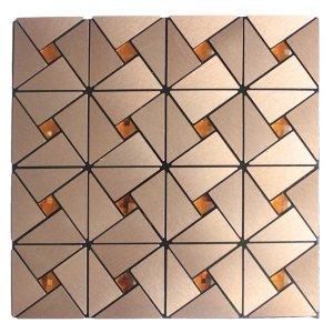 Kit 6 Pastilhas Adesivas Parede Metalizada Dourada 30cmx30cm D47 Equivale 0,5 Metro Quadrado