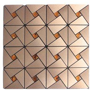 Kit 22 Pastilhas Adesivas Metalizada Dourada 30cmx30cm D47 Equivale 2 Metros Quadrados