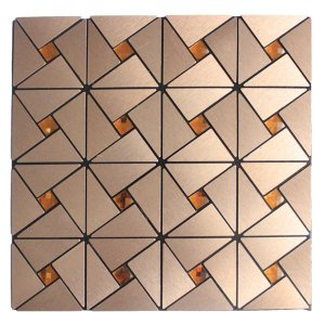 Kit 38 Pastilhas Adesivas Metalizada Dourada 30cmx30cm D47 Equivale 3,5 Metros Quadrados