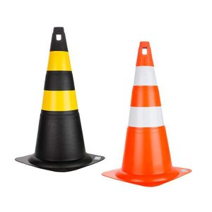 Cone Rígido de Sinalização 70cm Delta Plus Preto e Amarelo