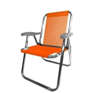 Cadeira de Praia Zaka Alta Plus, Laranja