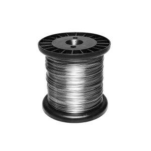 Bobina De Aço Inox 0,60mm Com 320 Metros Para Cerca Eletrica