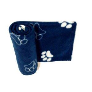 Manta Pet Cobertor Soft Azul Marinho Tam M Para Cães E Gatos