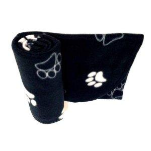 Manta Pet Cobertor Em Soft Preto Tamanho M Para Cães E Gatos