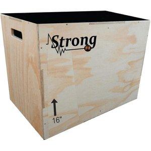 Caixote De Crossfit Para Salto Madeira 3 Em 1 Jump Box 16