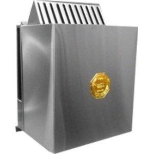 Sauna Seca Elétrica 9Kw Trifásico Inox de Parede com Comando Digital Impercap