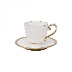 Jogo de Xícaras de Chá com Pires Porcelana 12 Peças 200ml Paddy Rojemac