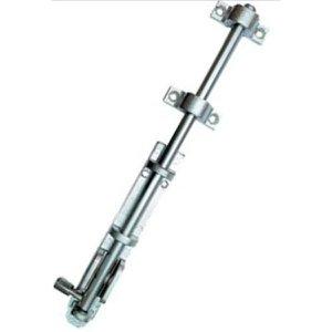 Trinco para Portas 300 mm Zamac com Latão - União Mundial Cromo Acetinado