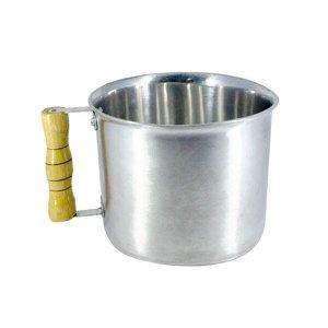 Canecão de Alumínio Fundido Polido Cabo Madeira 3 Litros