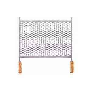 Grelha Retangular Para Churrasqueira Em Aço Inox 30x50cm