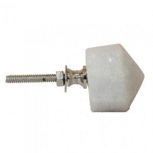 Puxador para Porta de Mármore e Metal 4cmx8cmx4cm Vênus Victrix