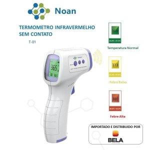 Termômetro Digital de Testa Infravermelho LCD Portátil