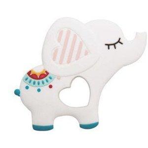 Mordedor de Silicone Elefante Branco - Girotondo