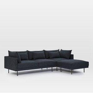 Sofá Confort Slim 200cm Eco Linho Grafite