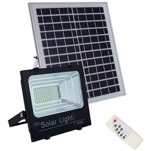 holofote refletor solar 100w energia sensor kit controle remoto led Iluminacao luminária bateria
