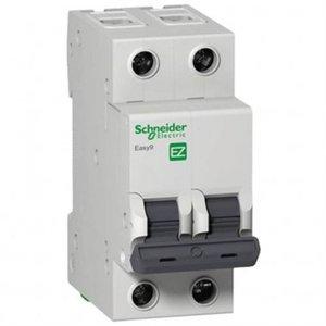 Disjuntor Easy9 2p 25a Curva C 230v 5000a / 400v 3000a - Ez9f33225 - Schneider