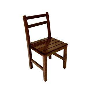 Cadeira Floripa De Madeira Ideal Para Bar E Restaurante - Imbuia
