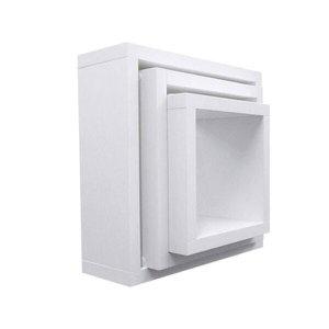 Nicho Cubo Branco Kit Com 3 Peças 30/25/20 100% Mdf - 10Cm