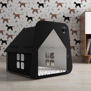 Casinha Pet Cachorro/Gato Preto - Tamanho P