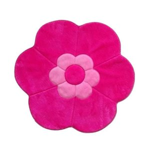 Tapete Flor Formato Decoração Menina Rosa Bebe E Pink