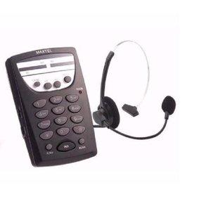 Telefone Com Fio Headset Maxtel Rj11 Telemarketing MT-108