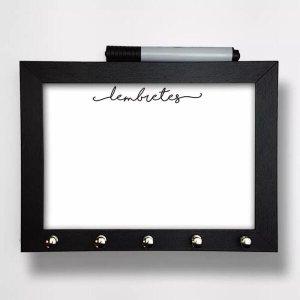 Porta Chaves Com Caneta Para Escrever Recados Com Vidro