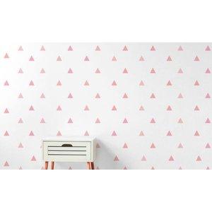 Adesivo Decorativo Triângulo Rosa 150 Un 4,5x4,2cm