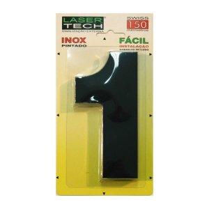 Números Inox Preto - Para Fachadas - 15cm - (Nº 1)