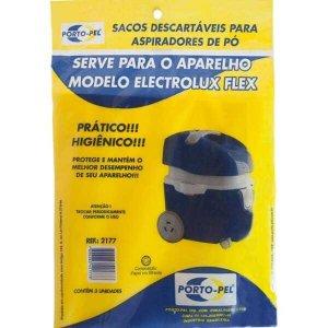 Saco De Aspirador De Pó Descartaveis Eletrolux Flex Ref2177