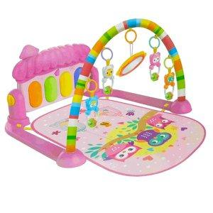 Tapete de Atividades Com Arco e Piano Musical Joy Rosa Color Baby