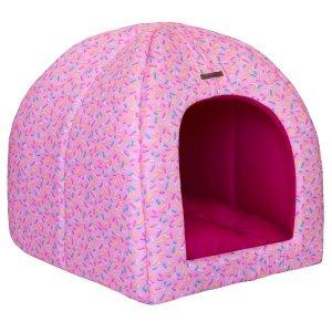Casinha para Cachorro Brigadeiro Pink Modelo Dois em Um (Vira Caminha)
