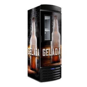 Cervejeira VN50FL Metalfrio Cervejeira Adesivada Porta c/ visor 497 litros 110v