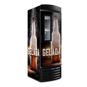 Cervejeira VN50FL Metalfrio Cervejeira Adesivada Porta c/ visor 497 litros 220V