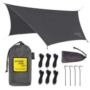 Toldo Teto Camping Portátil Para Rede - Portable Style:Cinza