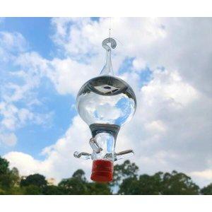 Bebedouro de vidro americano Bagdá 4 saídas para beija flor e pássaros ar livre
