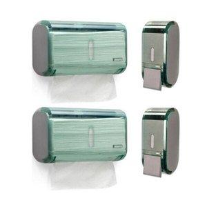 2 X Dispenser Para Álcool Gel + 2 X Porta Papel Toalha