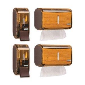 2 X Dispenser Para Alcool Gel + 2 X Porta Papel Toalha