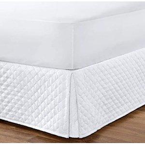 Saia Box Matelada Ultrassônica Casal Queen Size:Branco