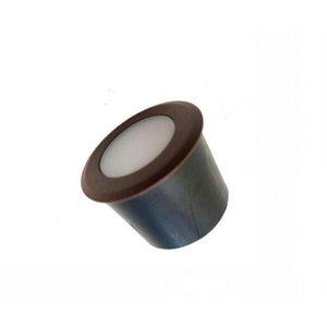 Mini Balizador De Piso Coin Marrom - Luz Quente-Interlight - 3971-S-MC