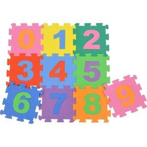 Tapete Educativo EVA com 10 Peças - Números Encaixáveis (29 x 29 cm)