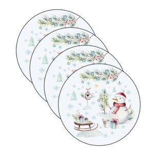 Sousplat Natal - 4 Peças - com base