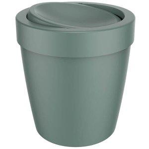 Lixeira Tampa Basculante Vitra 5l Cesto Lixo Banheiro Ou Verde Eucalipto