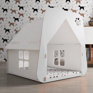 Casinha Pet Cachorro/Gato Branca - Tamanho M