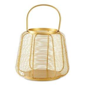 Lanterna Dourada em Metal 27,5 x 23 cm