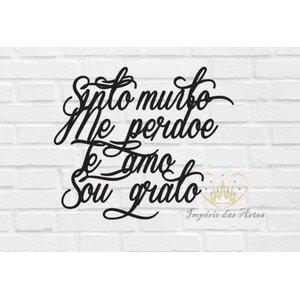 Ho Oponopono 60x50cm Lettering em Madeira Mdf Aplique de Parede